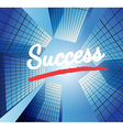 Success concept with abstract background vector image vector image