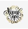 Thank you golden lettering design vector image vector image