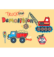 Truck stop vector image vector image