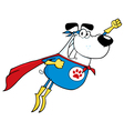 White Super Hero Dog Flying vector image vector image
