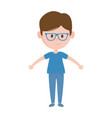 young man standing character white background vector image