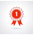 Badge With Ribbons or Award Icon vector image