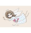Pretty angel girl vector image