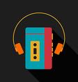 Retro vintage portable music player vector image