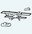 an airplane in sky vector image vector image