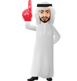 arab businessman showing number one vector image vector image