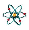 atom draw vector image vector image
