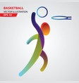 basketball color sport icon design template vector image