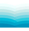 blue wave color gradient vector image vector image