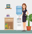 businesswoman in the office place scene vector image vector image