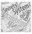 BWG best gambling ebooks Word Cloud Concept vector image vector image