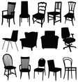 chair art in black color vector image vector image