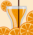 citrus juice vector image