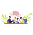 co-working team young coworkers business team vector image
