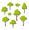collection of some different trees and bushes vector image