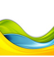 colorful abstract smooth waves corporate vector image vector image