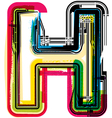 Colorful Grunge font LETTER H vector image vector image