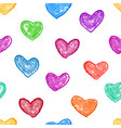 colorful heart seamless background vector image