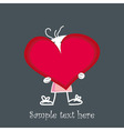 Cute little baby holding a red heart vector image