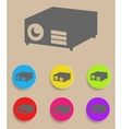 Data projector vector image