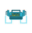 defibrillator pixel art medical device pixelated vector image vector image