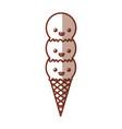 delicious ice cream cone kawaii character vector image