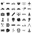 development in progress icons set simple style vector image vector image