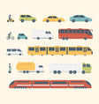 different kinds of city and intercity public vector image