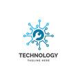 digital service logo design inspiration tem vector image vector image