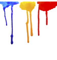 drops of paint flowing vector image vector image