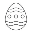 easter egg thin line icon easter and decoration vector image vector image