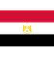 Egyptian flag vector image vector image