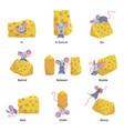 english language preposition set educational vector image vector image