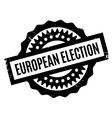 European Election rubber stamp vector image vector image