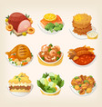 family dinner meals vector image vector image