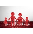 Family paper card vector image