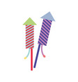 firework to celebrate especial and tradition event vector image vector image