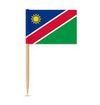 flag of namibia toothpick vector image vector image