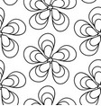 floral background drawn lines vector image