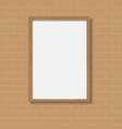frame wood vector image vector image