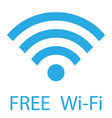 free wifi sign free wi-fi zone vector image vector image