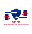 general data protection regulation abbreviation vector image vector image