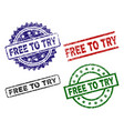 grunge textured free to try seal stamps vector image vector image