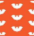 halloween seamless pattern with black bat vector image vector image
