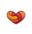 heart volleyball object vector image vector image