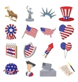 Independence day cartoon icons vector image vector image