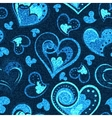 Jeans background with hearts Denim vector image