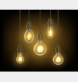 lamp or bulb light bulb hanging from ceiling vector image