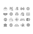 large set global business icons vector image