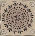 Mandala in watercolor style vector image vector image